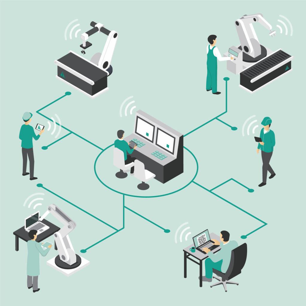 Fernsteuerung von (Industrie-)Robotern